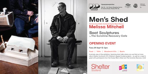 Melissa Mitchell - Men's Shed with Boat Sculptures by The Recovery Cafe