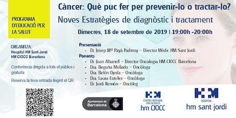 Noves Estratègies de Prevenció,  Diagnòstic i Tractament del Càncer entradas