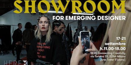Here-showroom_Emerging designer days biglietti