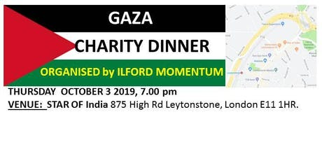 Gaza Charity Dinner Registration, Organised by Ilford Momentum tickets