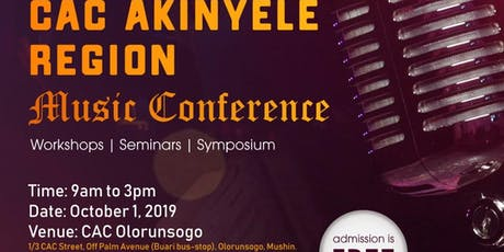CAC Akinyele Regional Music Conference  tickets