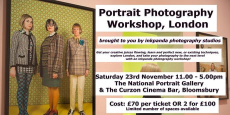 Portrait Photography Workshop tickets