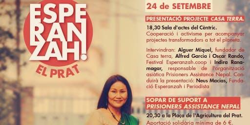 Presentació de Casa Terra, amb l'activista nepalesa Indira Ranamagar Prisoners Assistance Nepal
