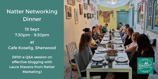 Natter Networking Dinner - September