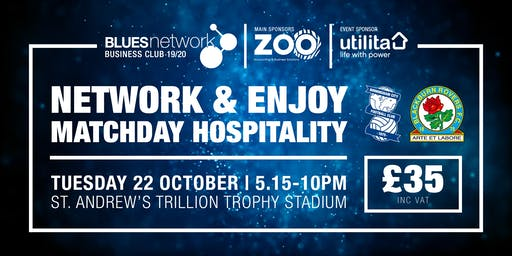 Blues Network Business Club Match Day Event- Sponsored by Utilita