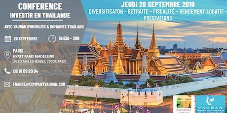Conférence Investir en Thaïlande - Paris le 26 septembre billets