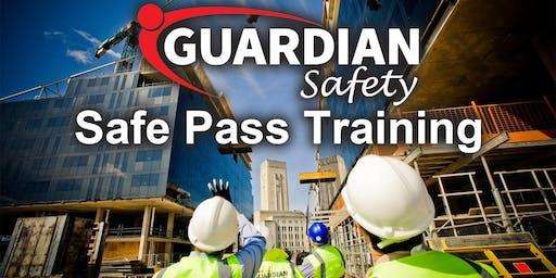 Safe Pass Training Course Dublin Tuesday 15th October