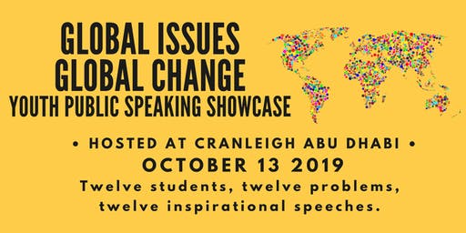 Global Issues Global Change Youth Public Speaking Showcase