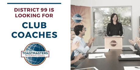 Toastmasters District 99 Club Coach Training tickets