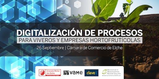 Digitalización de Procesos para viveros y empresas hortofrutícolas