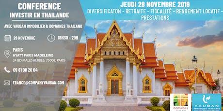 """Conférence """"Investir en Thaïlande"""" à Paris le 28 Novembre billets"""