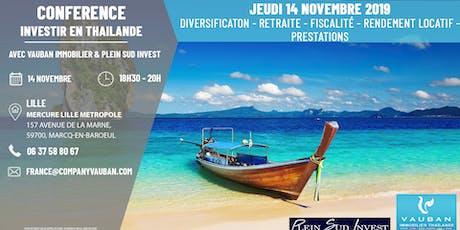 Conférence Investir en Thaïlande - Lille le 14 Novembre 2019 billets