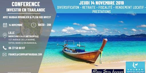 Conférence Investir en Thaïlande - Lille le 14 Novembre 2019