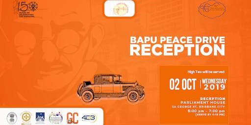 Bapu Peace Drive; 150 Celebration of Gandhi in Queensland at the Queensland Parliament over a high level High Tea
