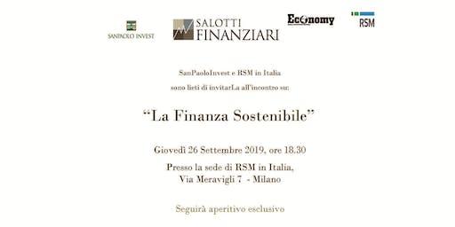 SALOTTO FINANZIARIO - LA FINANZA SOSTENIBILE