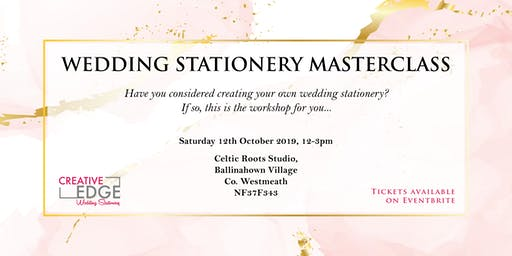 Wedding Stationery Masterclass by Creative Edge Design
