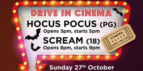 Halloween Drive in Cinema tickets