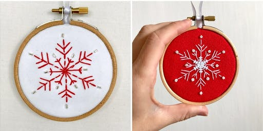 Embroidered Christmas Decoration Workshop