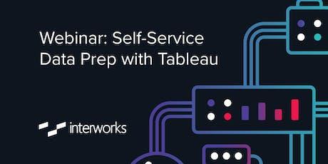 Webinar: Self-Service Data Prep with Tableau tickets