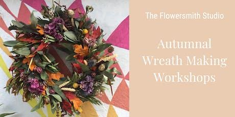 Autumnal Wreath Making Workshop  tickets