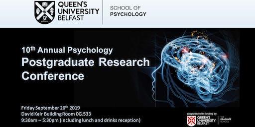 Queen's Psychology Postgraduate Conference 2019