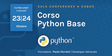 Corso Python Base biglietti