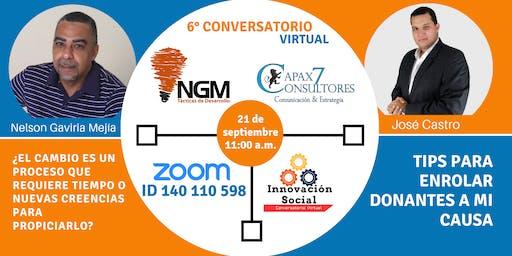 SEXTO CONVERSATORIO VIRTUAL DE INNOVACIÓN SOCIAL