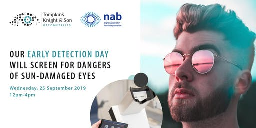 Early Detection Day - drop-in. Have your eyes been damaged by the sun?