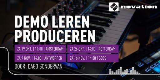 Demo Leren Produceren (Novation) bij Bax Music Amsterdam