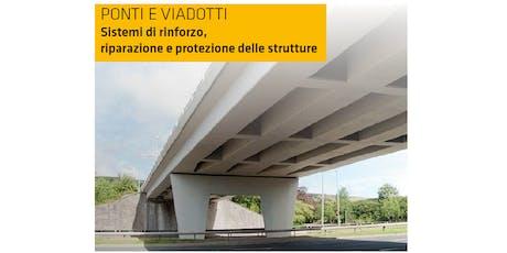 SALERNO - Ponti e Viadotti: sistemi di rinforzo, riparazione e protezione delle strutture biglietti