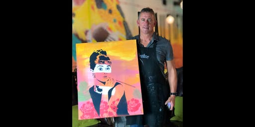 Audrey Paint and Sip Brisbane Saturday Day 7.12.19