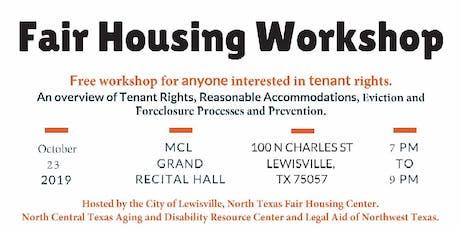Fair Housing Workshop for Tenants - Lewisville tickets