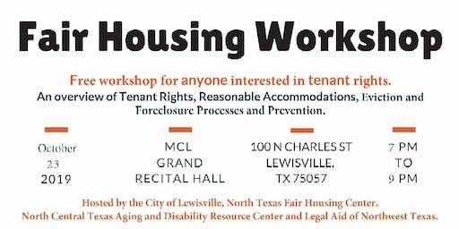 Fair Housing Workshop for Tenants - Lewisville