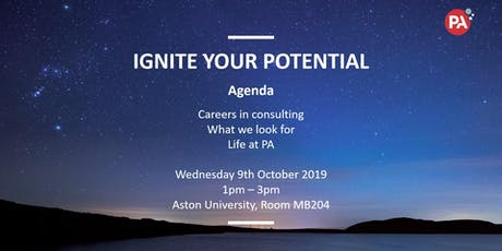 Ignite your potential: PA Consulting BAME Network at Aston University tickets