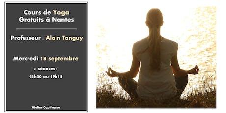 Cours de Yoga Gratuits billets