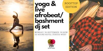 Yoga & live Afrobeat/Bashment DJ set – Rooftop edition