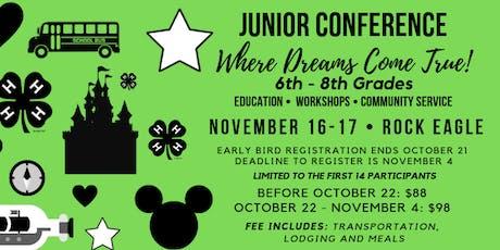 Junior Conference (Grades 6-8/ $85-$95) entradas