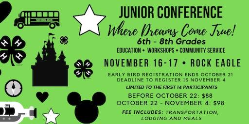 Junior Conference (Grades 6-8/ $85-$95)