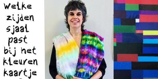 Zijde schilderen in combinatie met een kleurenanalyse of een stijl workshop