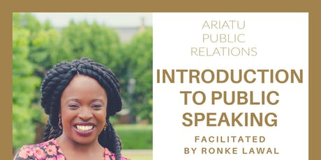 Introduction to Public Speaking tickets
