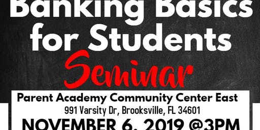 Banking Basics for Students Workshop