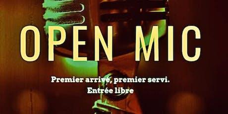 """Open Mic du Mardi : """"premier arrivé, premier servi"""" billets"""