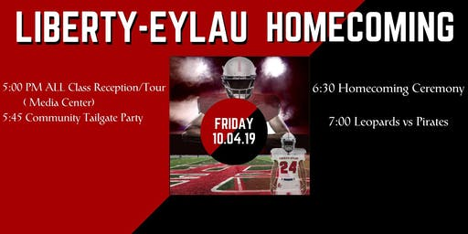 Homecoming Reception, Tailgate, and Football Game -LEHS Class of 09 Reunion