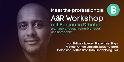 A&R Workshop mit Benjamin Dibaba (Music Business Workshop während RBF19)