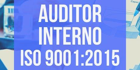 Curso Auditor de Calidad ISO 9001:2015 entradas