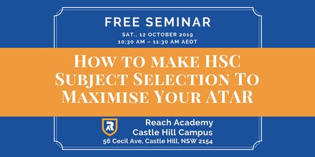 How to make HSC Subject Selection To Maximise Your ATAR tickets