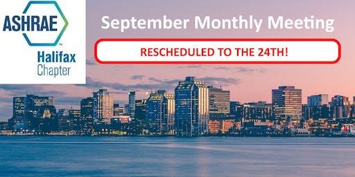 ASHRAE Halifax September 2019 Meeting