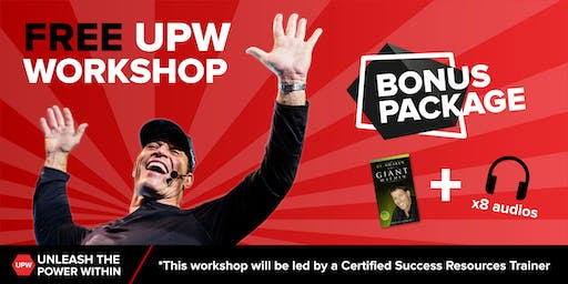 Cork - Free Tony Robbins Unleash the Power Within Workshop 19th October