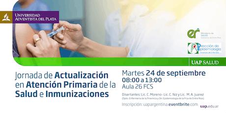 Jornada de Actualización en Atención Primaria de la Salud e Inmunizaciones entradas