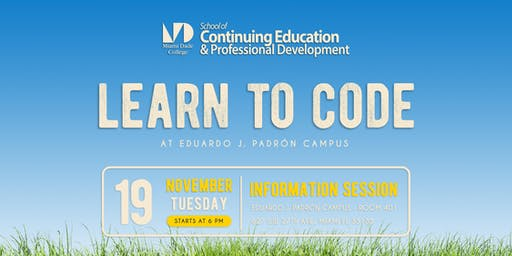 Learn to Code at Miami Dade College - Spring 2020